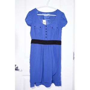 Kensie Blue Gossip Story Tulip-Hem Dress